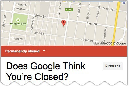 closed google listing