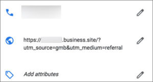 GMB Website Analytics tracking code