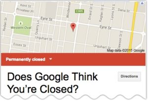 now google closed listing display