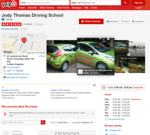 example of a citation on Yelp