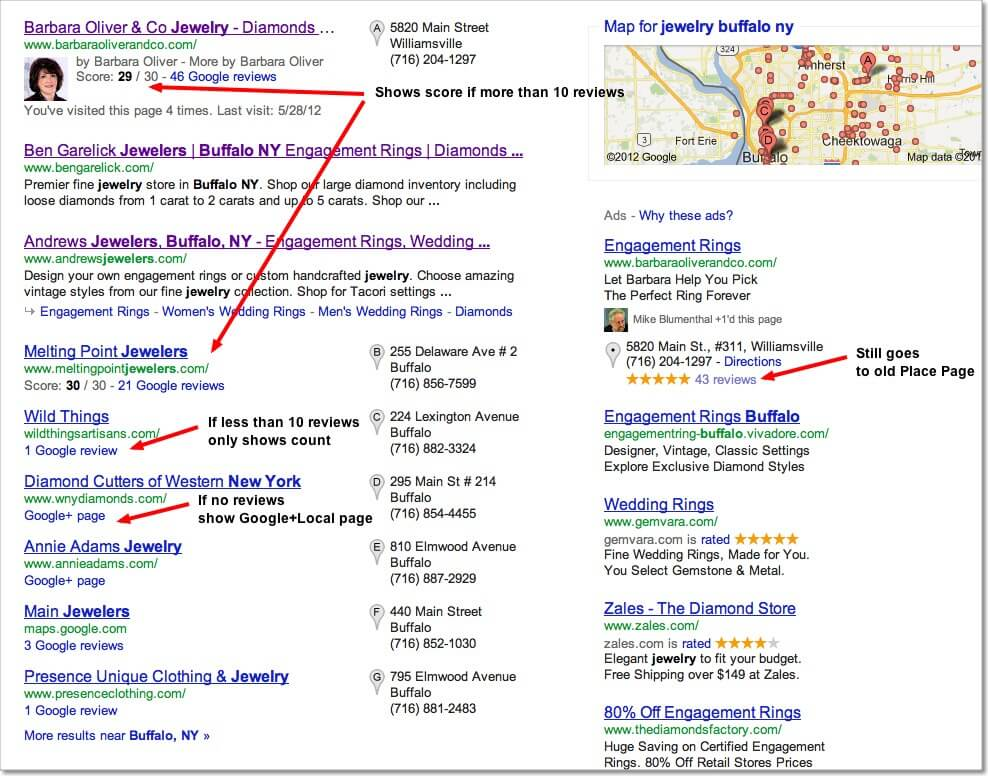 google local packs 2012